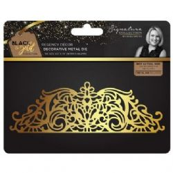 Sara Signature : Black & Gold - Metal Die - Regency Décor